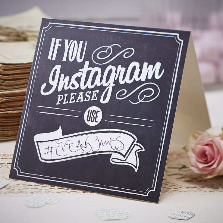If You Instagram Table Tent Signs (Pack of 5)