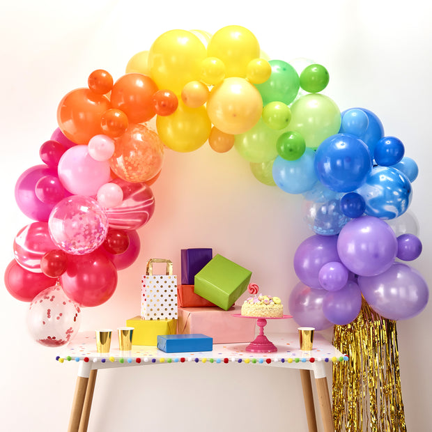 Rainbow Balloon Arch Kit (Set of 70 Balloons)