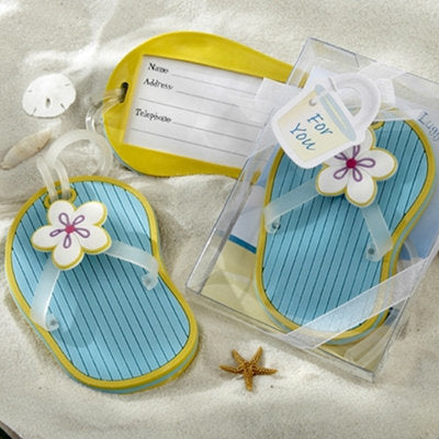 Blue Flip Flop Luggage Tag Favour