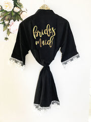 Cotton Lace Bridal Party Robes