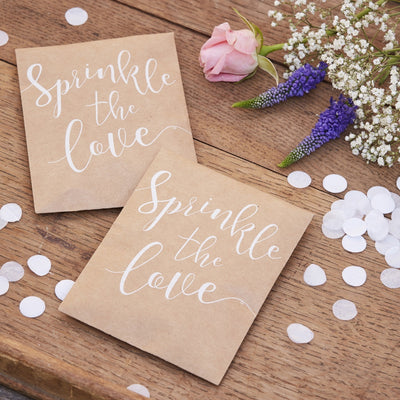 Sprinkle The Love Tissue Paper Confetti Pouch