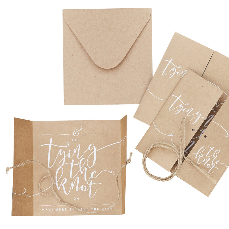 Kraft Save The Date Invitations (Pack of 10)