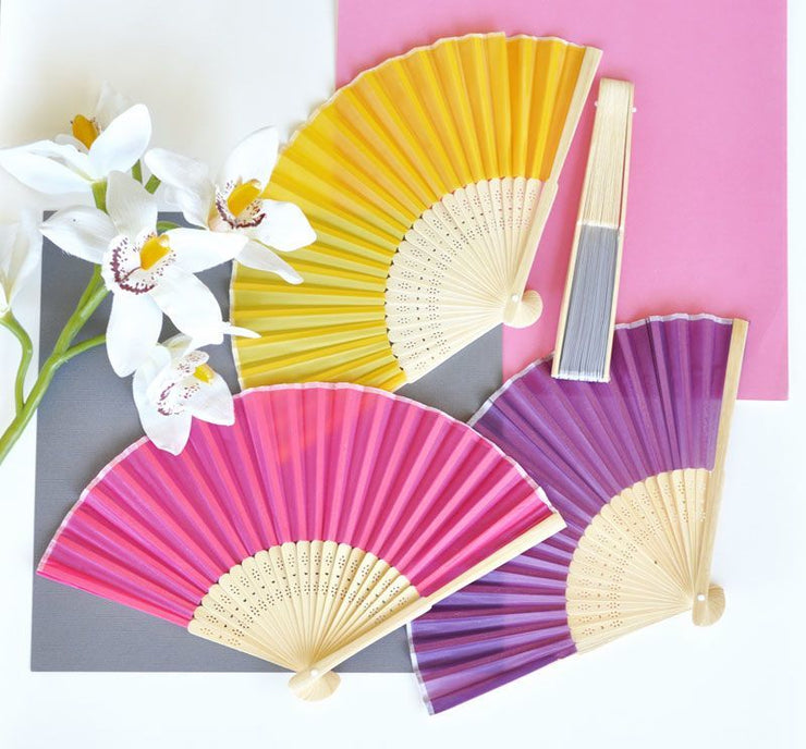 Coloured Silk Fan