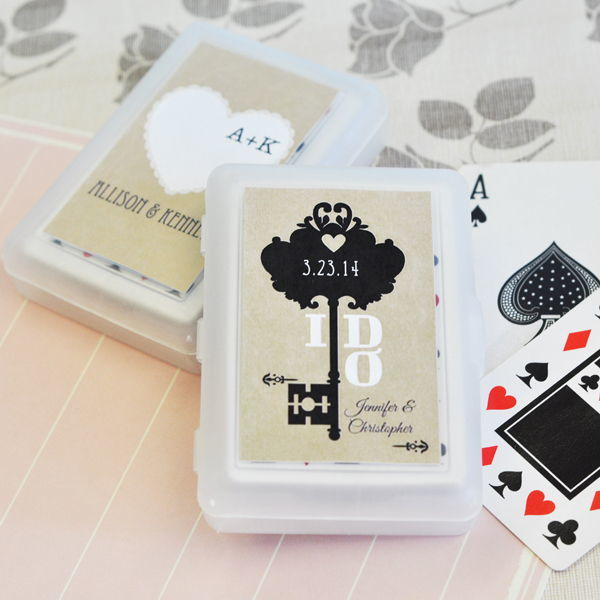 Vintage Label Personalised Playing Cards