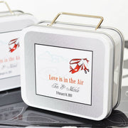 """Love is in the Air"" Suitcase Tins"