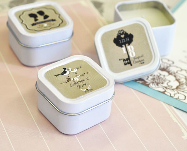 Personalised Vintage Square Candle Tins