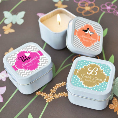 Personalised Theme Candle Tins