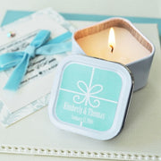 Personalised Gift Box Candle Tins