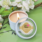 Personalised Theme Round Candle Tins