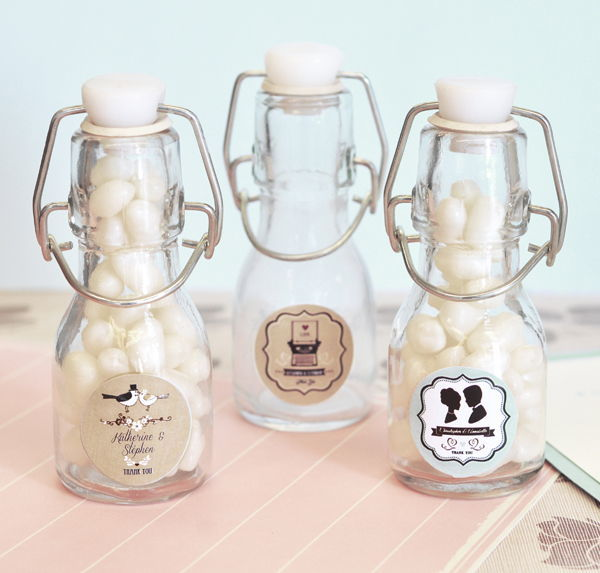 Personalised Vintage Style Mini Bottles