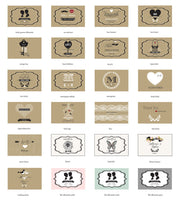 Vintage Style Personalised Theme Mints