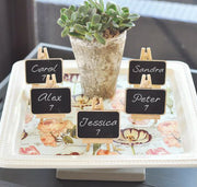 Set of Three Chalkboard Easel Placecards