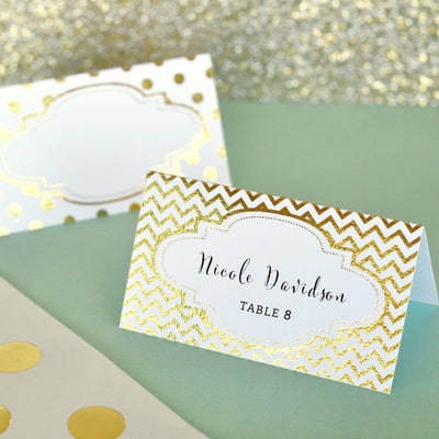Metallic Foil Place Cards (Set of 12)