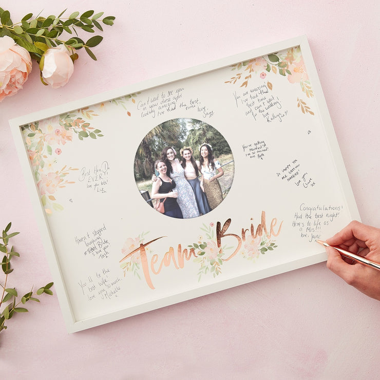Floral Hen Party Frame Alternative Guest Book