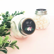 Personalised Floral Sweet Jars