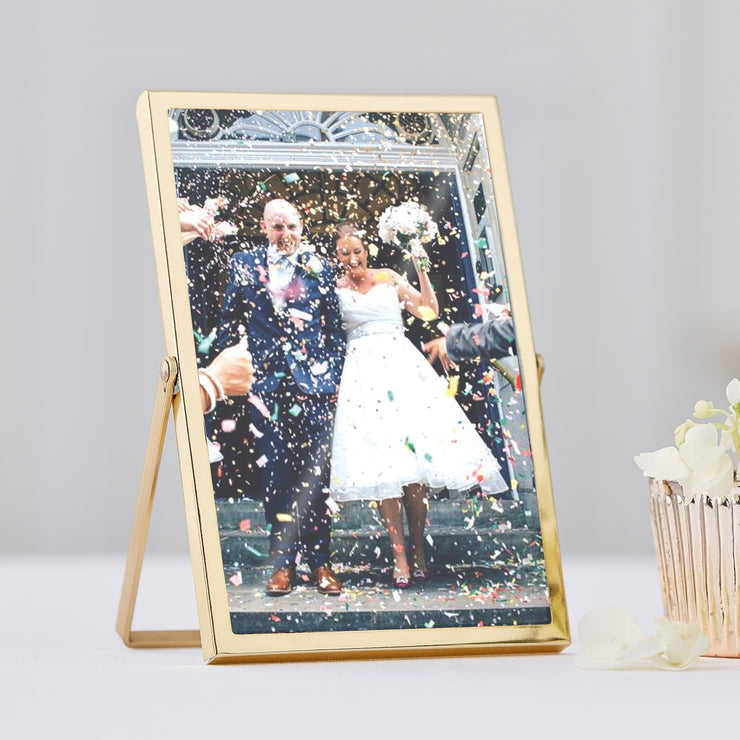 Gold Freestanding Table Number/Photo Frames