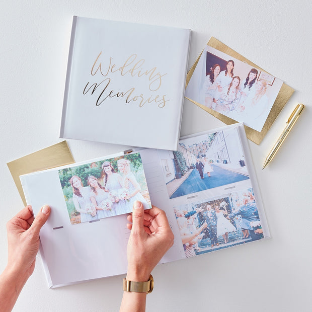 Gold Foiled Wedding Memories Photo Album