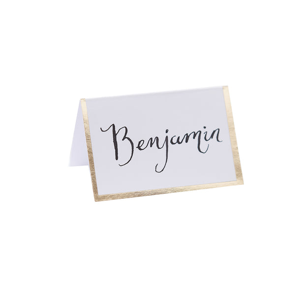 Gold Foiled Border Place Cards (Pack of 10)