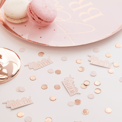 Team Bride Blush And Rose Gold Hen Party Confetti