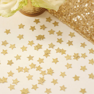 Gold Glitter Star Table Confetti