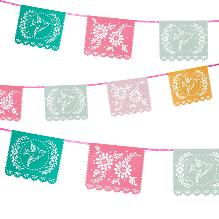 Floral Fiesta Mexicana Bunting