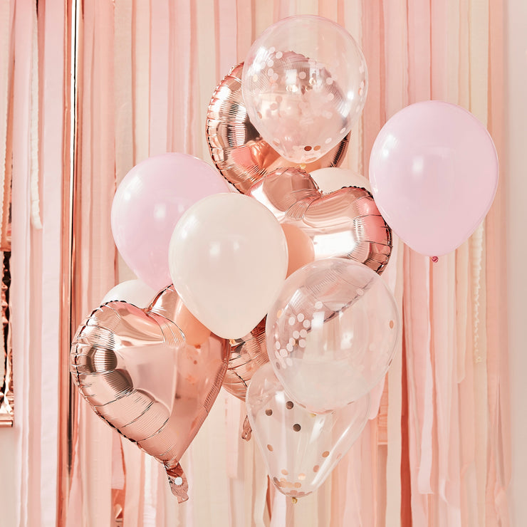 Blush And Rose Gold Balloons Bundle