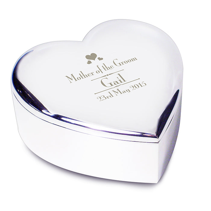 Decorative Mother of the Groom Heart Trinket Box