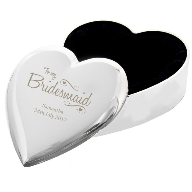 Personalised Bridesmaid  Trinket Box