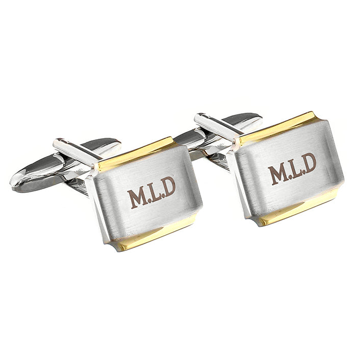 Silver and Gold Plated Cufflinks