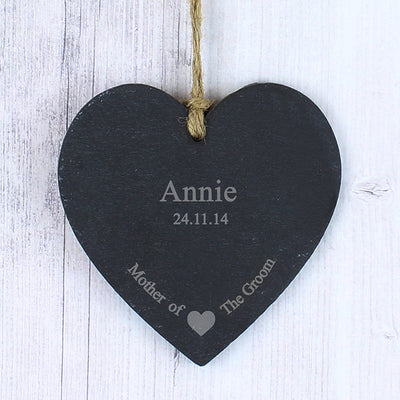 Mother of the Groom Slate Heart Keepsake