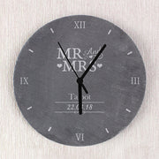 Mr & Mrs Slate Clock