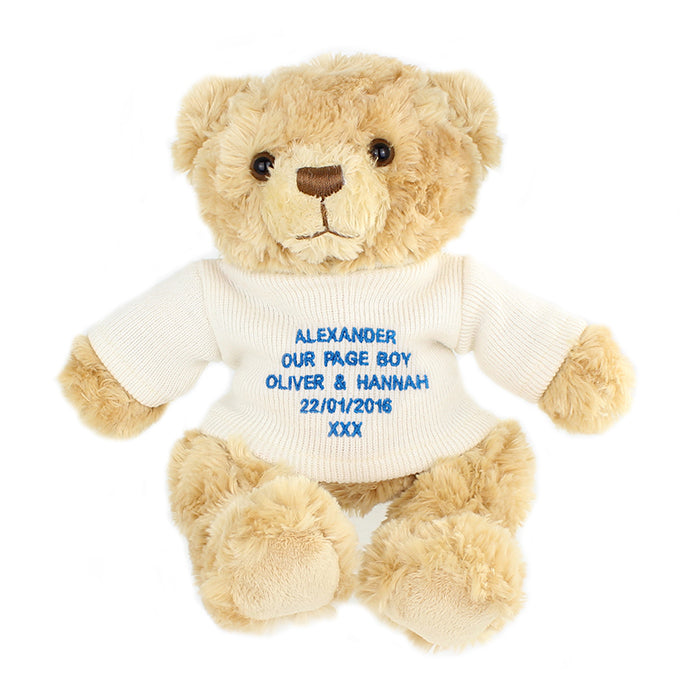 Personalised Message Teddy Bear in Blue