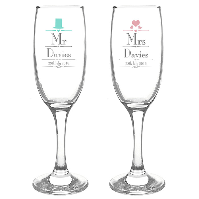 Mr & Mrs Pair of Flutes