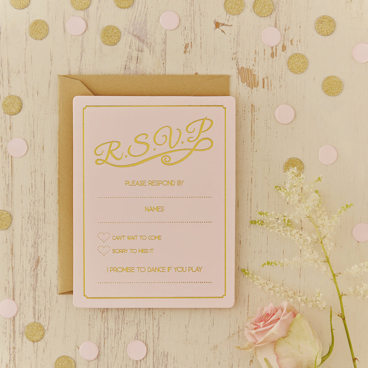 Gold Foiled RSVP Cards - Pastel Perfection (Pack of 10)
