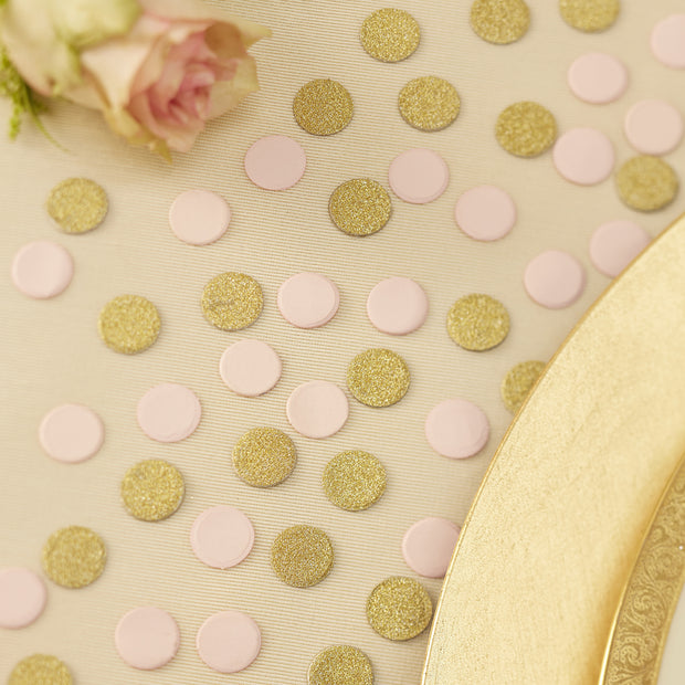 Gold & Pink Glitter Table Confetti