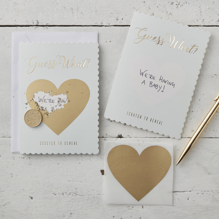 Mint & Gold Guess What Scratch Greeting Cards (Pack of 3)