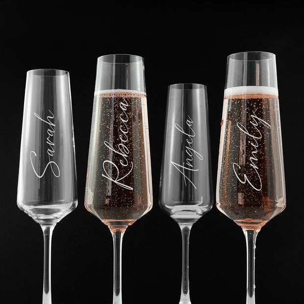 Personalised Elegance Single Champagne Flute