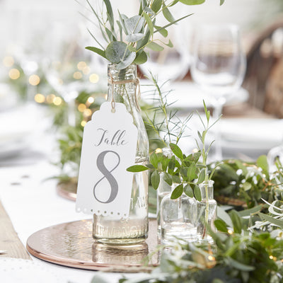 Elegant Table Number Tags (1-12)