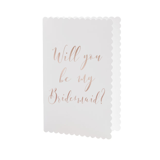 Rose Gold 'Will You Be My Bridesmaid' Cards