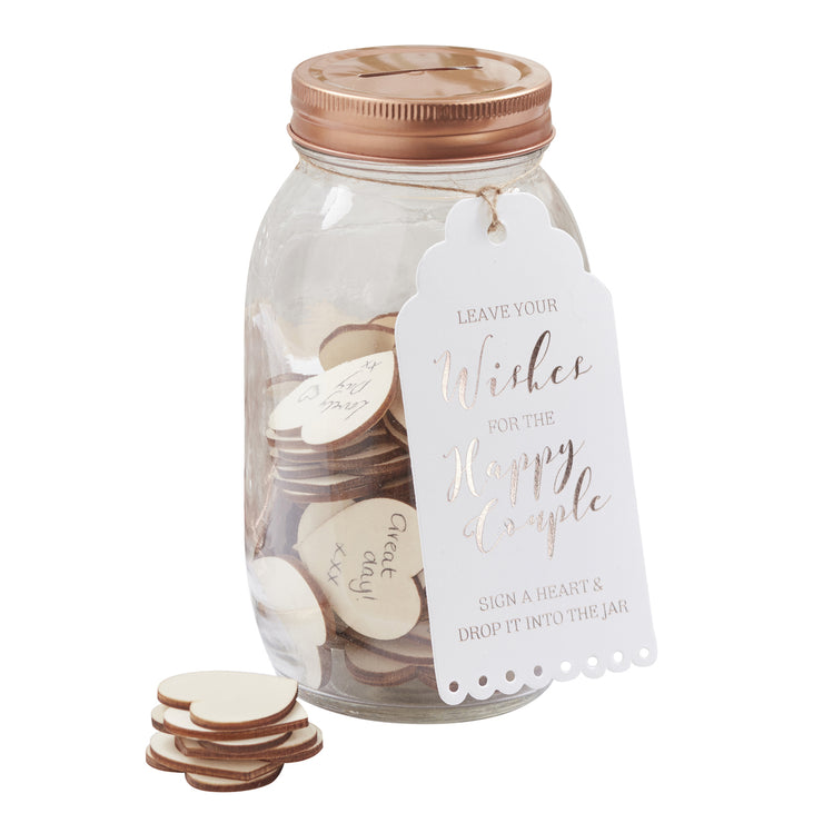 Rose Gold Wishing Jar Guest Book