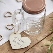 Wooden Heart Tags With Twine