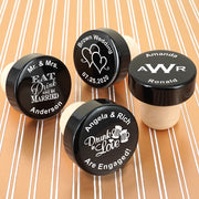 Personalised Black Aluminium Top Bottle Stopper