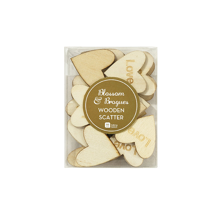 Blossom & Brogues Wooden Love Scatter (pack of 30)