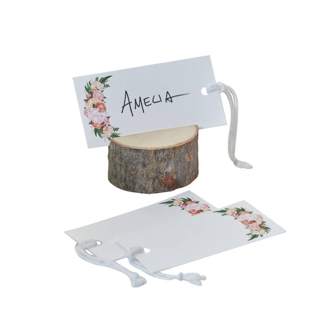 Floral Luggage / Place Cards (Pack of 10)
