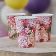 Boho Floral Paper Cups