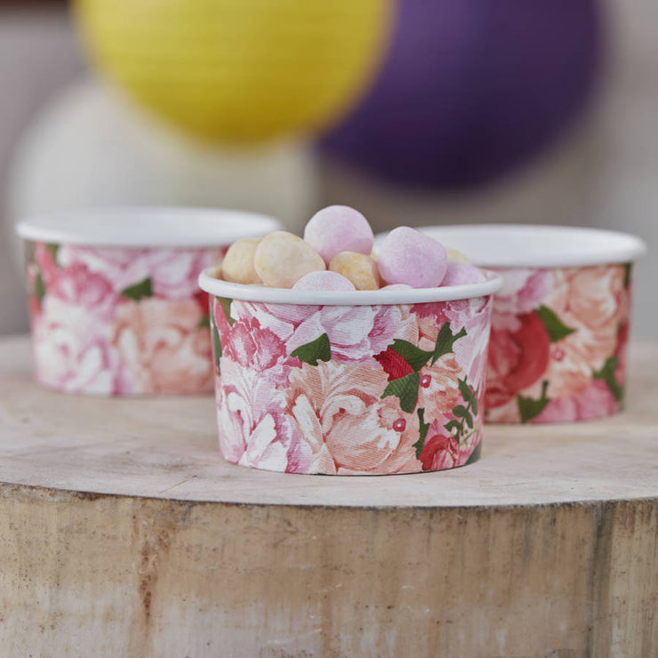 Boho Floral Treat Tubs