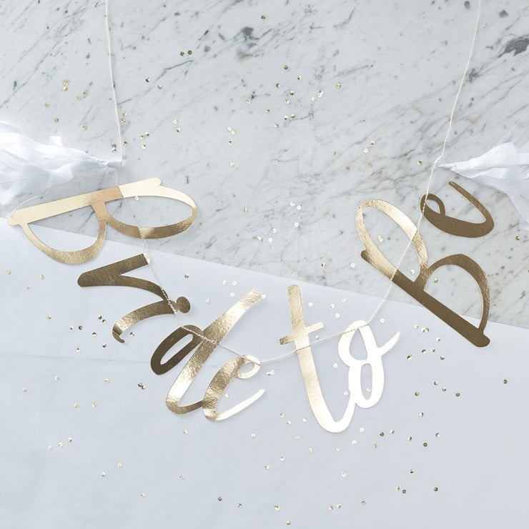 Gold Foiled 'Bride To Be' Bunting