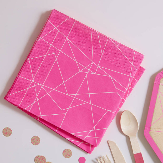 Bright & Beautiful Neon Pink Napkins