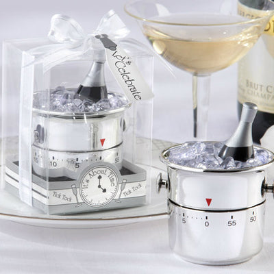 """It's About Time! Let's Celebrate"" Champagne Bucket Timer"