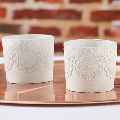 Concrete Lace Votive Holder